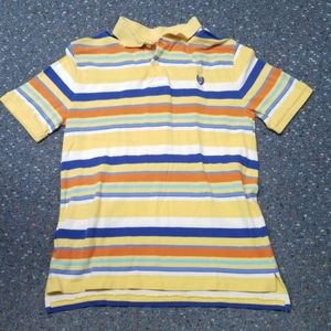 Chaps striped colorful polo shirt
